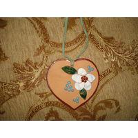 Сердечко (валентинка из керамики)