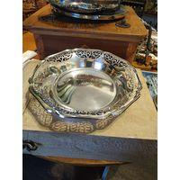 Лот с рубля - 177 Ваза Фруктовница Серебрение Клейма Без минимальной цены Большой Аукцион!