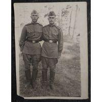 Фото двух солдат. 1956 г. 9х12см
