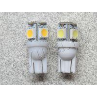 Автомобильная лампа с цоколем T10 W5W 5050