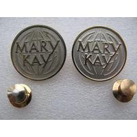 Знак. Мери Кей (Mary Kay) (тяжёлый, цанга). цена за 1 шт.