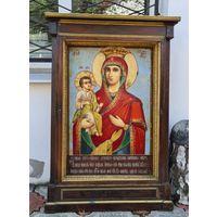 Старинная Белорусская икона Божья Матерь Троеручица