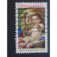 США 1982 г. Рождество.