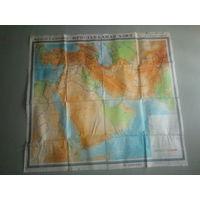 Карта юго-западная азия