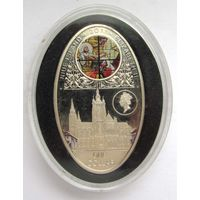 1 Новозеландский доллар. 2011 г. Собор Святого Вита (Прага). Серебро 925 28 г.