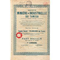 Miniere et Industrielle du Tamega (минералы и добыча в Тамеге), оловянные рудники в Португалии, Брюссель, Бельгия, 1925 г.