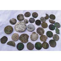 Лот монет билон серебро
