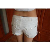 Шорты белые джинс р.44