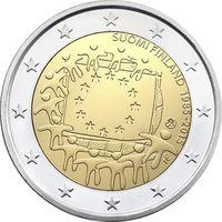2 Евро Финляндия 2015 30 лет флагу UNC из ролла