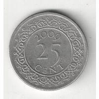 Суринам 25 цент 2009