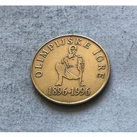 Словения 5 толаров 1996 100 лет современным Олимпийским Играм