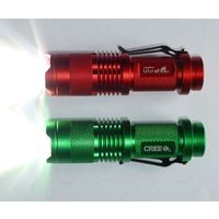 Светодиодный фонарик с зумом, 1xAA, металл