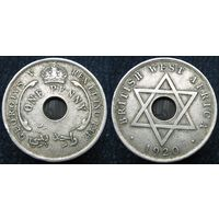W: Британская Западная Африка 1 пенни 1920, большая (757)