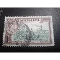 Ямайка 1938 колония Англии король Георг 6 1 шиллинг