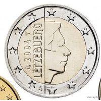 2 евро 2004 Люксембург UNC из ролла