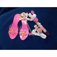 Аксессуары для принцессы- туфли на каблуке, украшения, Китти-веер