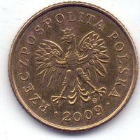 Польша, 1 грош 2009 года.