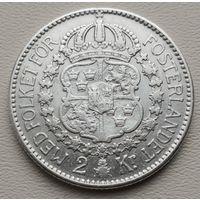 Швеция 2 кроны 1910, серебро