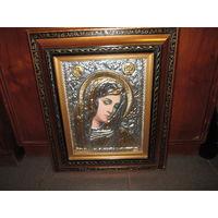 Икона Образ Св.Девы Марии из Греции,р-р. 40х47 см.