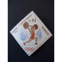 Монако. Mi:MC 784 1964 год ** Олимпийские игры, Токио, Инсбрук - штангист