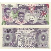 Гана 10 седи образца 1984 года UNC p23