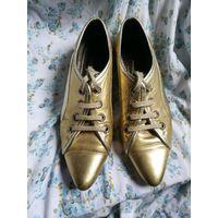 Туфли на шнурках, натуральная кожа, р.37