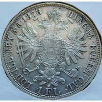25. Австрия 1 флорин 1878 год, серебро