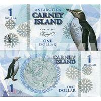 Остров Карней 1 доллар 2016 год  UNC. фентези.  распродажа