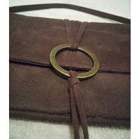 Сумка клатч Principles, винтаж, текстиль под велюр