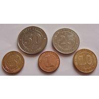 Зимбабве. набор из 5 монет  1,5,10,25,50 центов  2014 год
