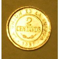 2 сентаво 1987 Боливия