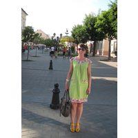 Яркое платье (лён+хлопок)