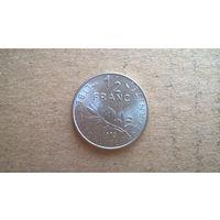 Франция 1/2 франка, 1973г. (U)