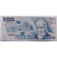 Мексика 20000 Песо 1988, VF, 625