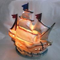 Фарфоровый ночник аромолампа в виде корабля ГДР