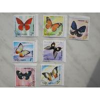 Марки Вьетнам бабочки набор