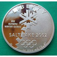 1 доллар 2002 Saltlake.