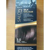 Стойкая крем-краска для волос Шелковое окрашивание, тон 3.0. Гoрький шоколад