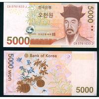 Южная Корея 5000 вон (2006) UNC