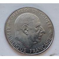 Франция 1 франк, 1988 30 лет Пятой Республике 4-14-16