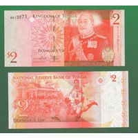 Банкнота Тонга 2 паанга (2008-14) UNC ПРЕСС Р38