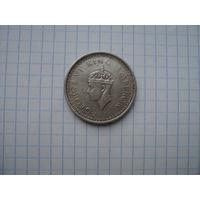 Британская Индия 1 рупия 1942, серебро;