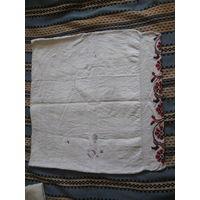 Наволочка 2 старинная домотканый лен ручная вышивка