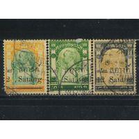 Сиам Таиланд 1909 Рама V Чулалонгкорн Надп Стандарт #80,82,89
