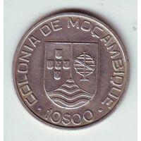 Мозамбик. 10 эскудо 1936 г. ( серебро )