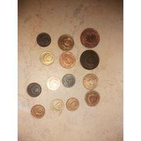 Копейки  14 шт.  1, 2, 3 копейки с 1 рубля