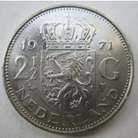 Нидерланды. 2 1\2 гульдена 1971 .111