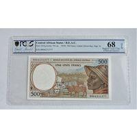 Центрально Африканские Штаты 500 франков слабе PСGS 68  UNC