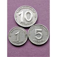 ГДР 1,5 и 10 пфеннигов 1948-1949 А