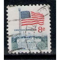 Марка США Флаг USA 8с